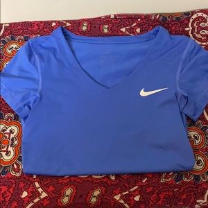 Nike blue dri -fit shirt
